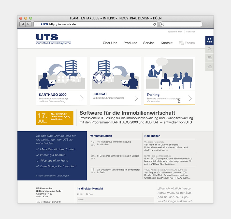 UTS Website01